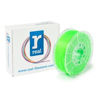 REAL Filament 3D zielony fluorescencyjny 1,75 mm PLA 1 kg, REAL  DFP02017