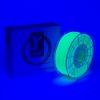 Filament 3D zielony fluorescencyjny 2,85 mm PLA 1 kg, REAL